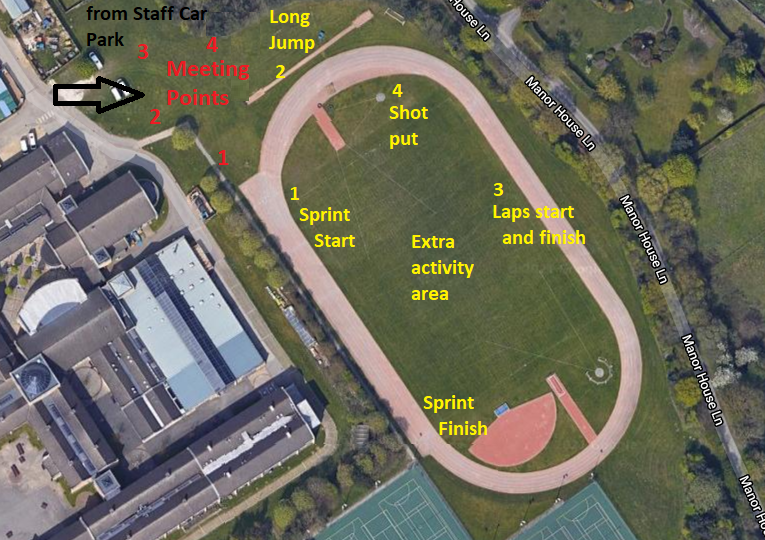 GSAL athletics track map