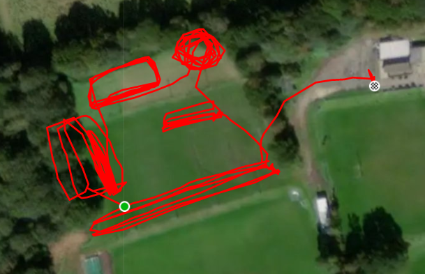 GPS track of Training Session on 3 December by Abs Kingston