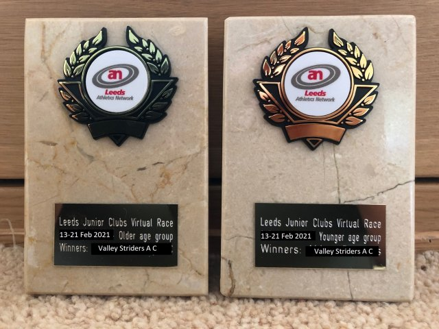LJC Virtual Race February 2021 Trophies